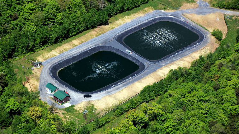Aerated Settling Lagoons Construction in VT